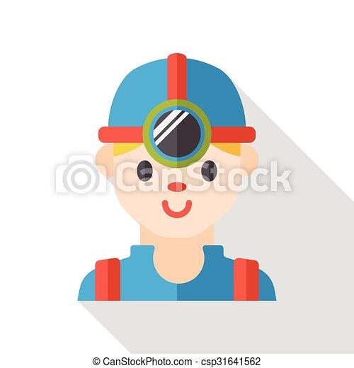 Worker flat icon - csp31641562