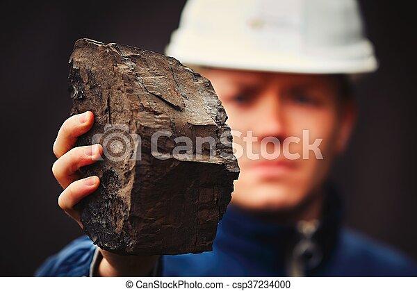 Worker in coal mine - csp37234000