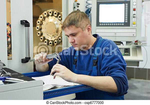 worker measuring detail - csp6777000