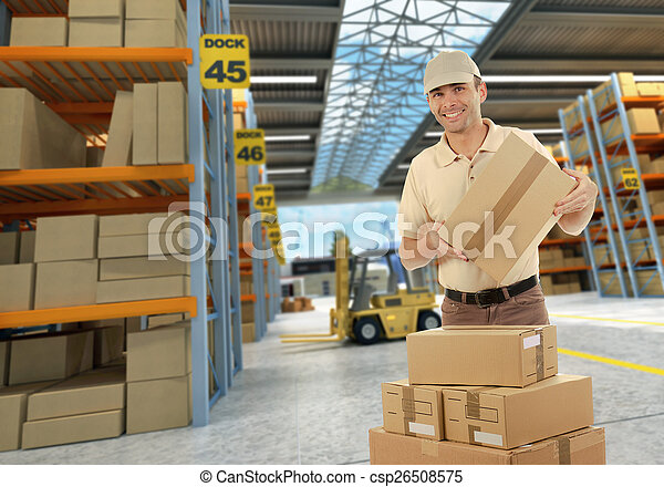 Worker on Distribution warehouse - csp26508575