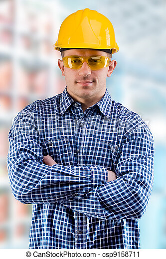 worker on the blurred background of a department - csp9158711