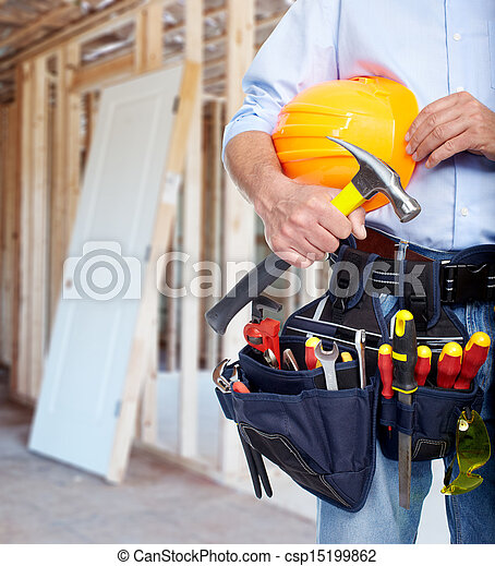 Worker with a tool belt. - csp15199862