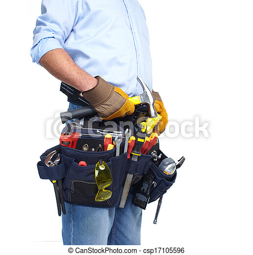 Worker with a tool belt. - csp17105596