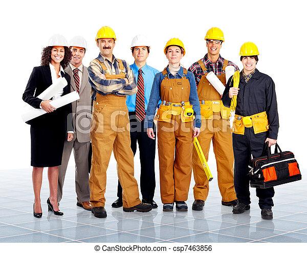 Trabajadores. - csp7463856
