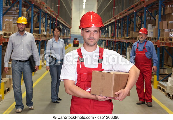 workers in warehouse - csp1206398