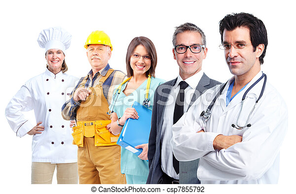Trabajadores industriales. - csp7855792