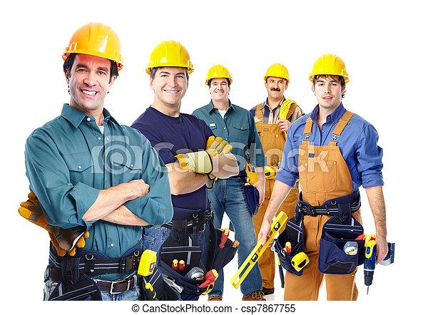 Eine Gruppe professioneller Industriearbeiter. - csp7867755