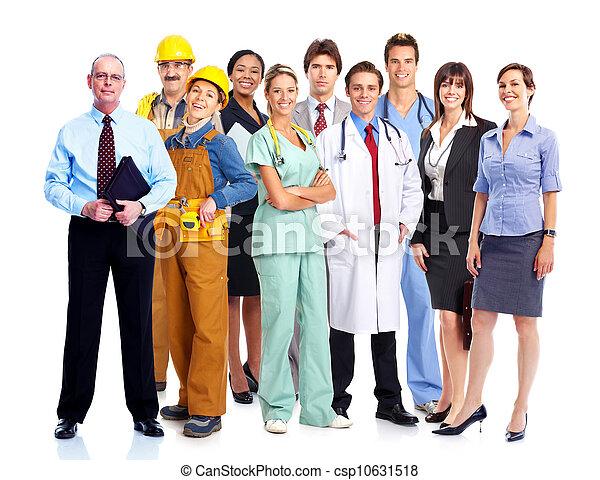 workers., industriebedrijven, groep - csp10631518