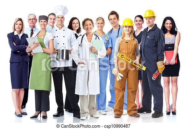 workers., industriebedrijven, groep - csp10990487