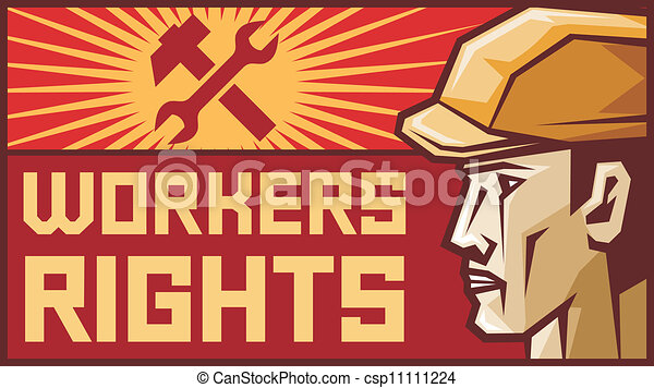 workers rights poster  - csp11111224