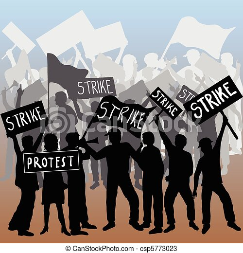 Workers strike and protest - csp5773023