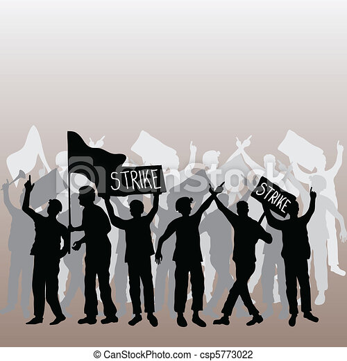 Workers strike - csp5773022