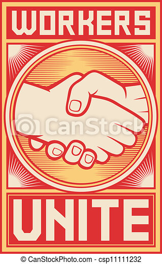 workers unite poster - csp11111232