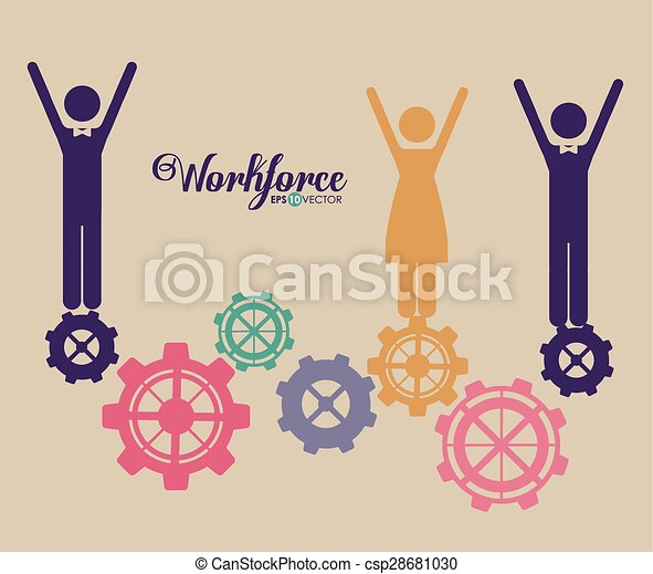 workforce, projektować - csp28681030