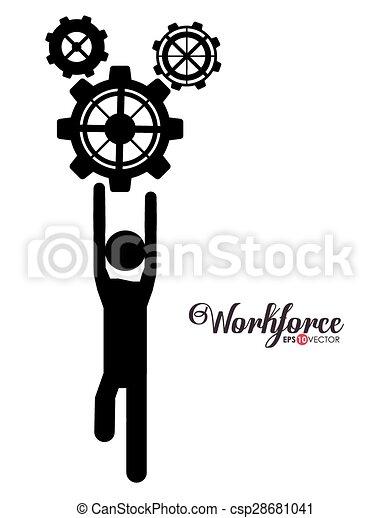 workforce, projektować - csp28681041