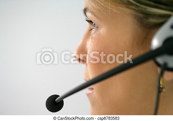Working in  a call center - csp8783583