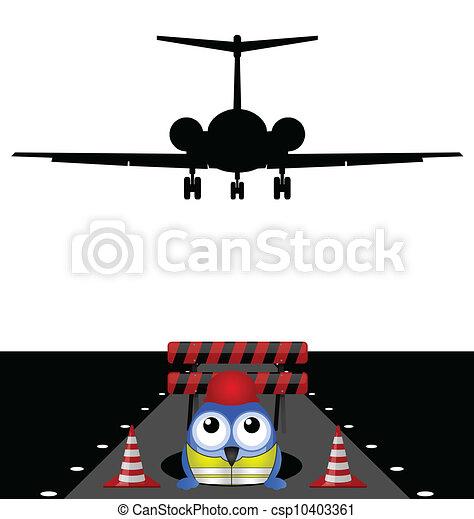 working on runway - csp10403361