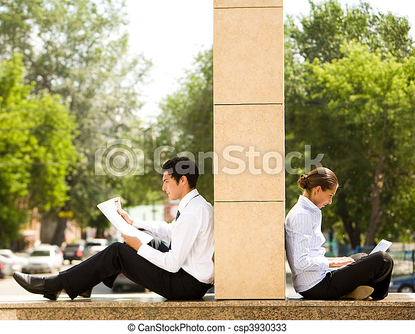 Working outside - csp3930333