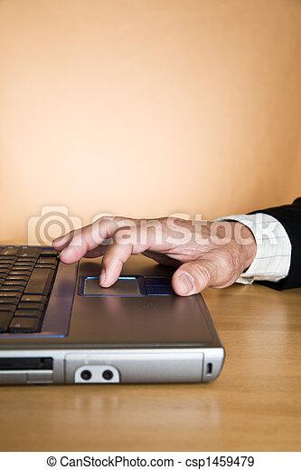 Working senior businessman - csp1459479