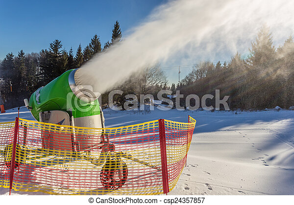 working snow gun - csp24357857