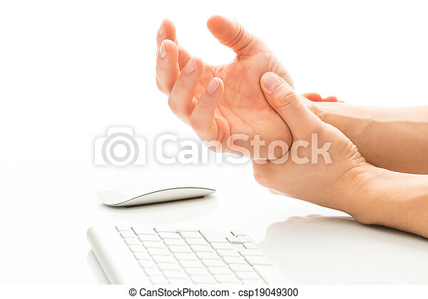 Working too much - suffering from a Carpal tunnel syndrome - csp19049300
