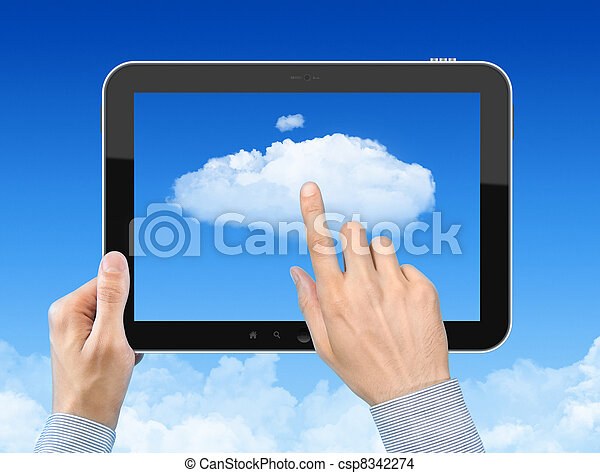 Working With Cloud Computing Concept - csp8342274
