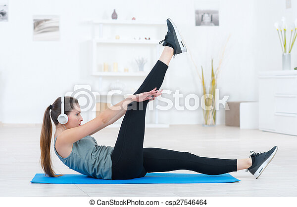 Workout routine at home - csp27546464