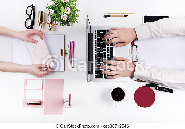 Workplace at the office. Technology. - csp36712546
