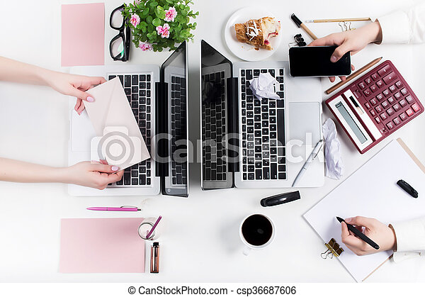 Workplace at the office. Technology. - csp36687606