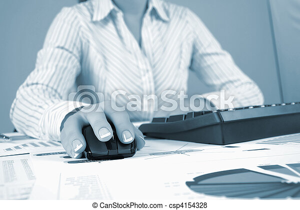 Workplace businessman - csp4154328
