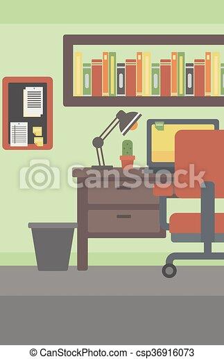 workplace., fundo, escritório - csp36916073