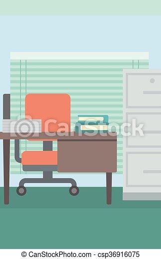 workplace., fundo, escritório - csp36916075