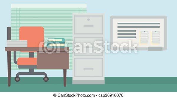 workplace., fundo, escritório - csp36916076