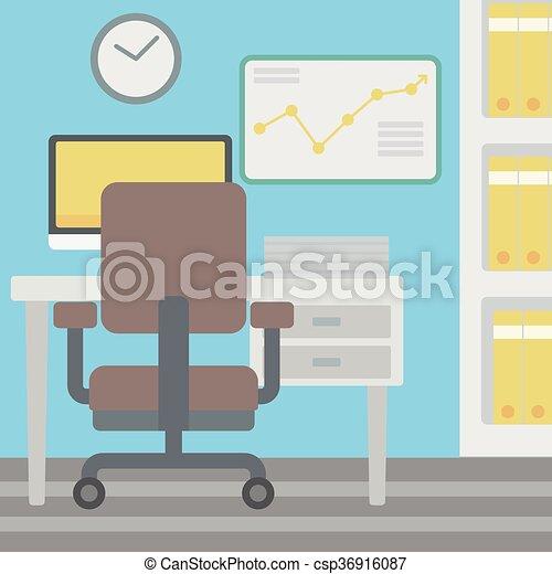 workplace., fundo, escritório - csp36916087