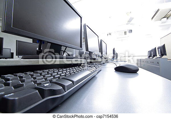 workplace room with computers - csp7154536
