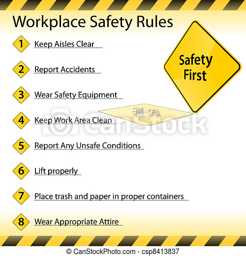 Workplace Safety Rules - csp8413837