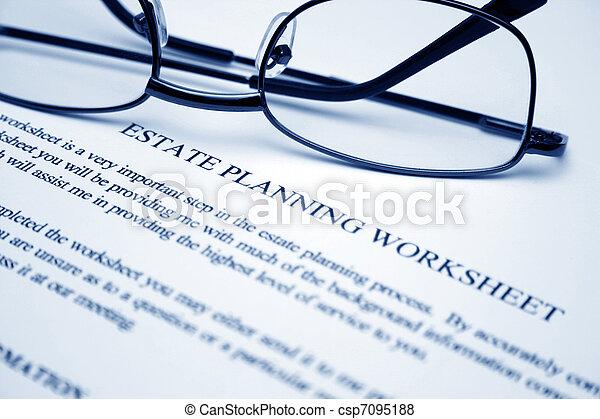worksheet, planification, propriété - csp7095188