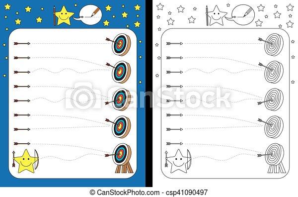worksheet, preschool - csp41090497