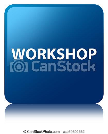 Workshop blue square button - csp50502552