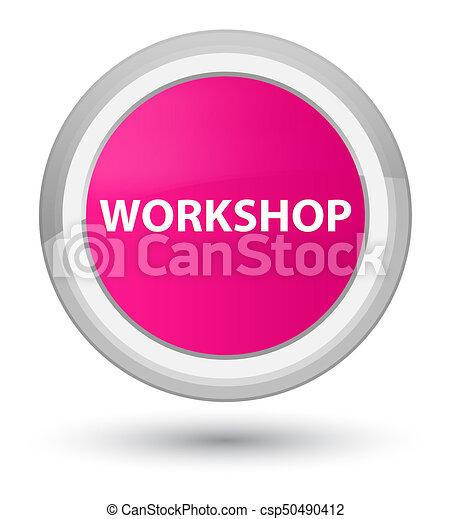 Workshop prime pink round button - csp50490412