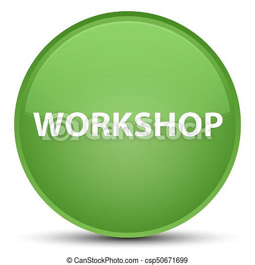 Workshop special soft green round button - csp50671699