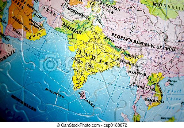 World 3D Puzzle: India - csp0188072