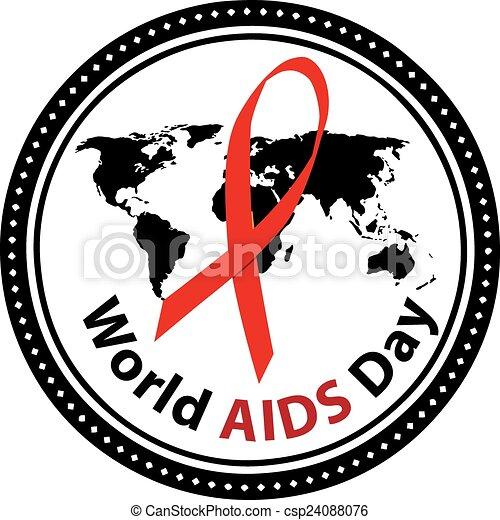 Symbol Of World Aids Day December 1 Vector Illustration