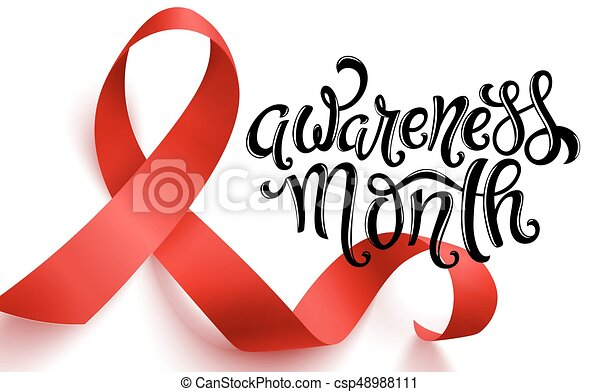 World Aids Day Realistic Red Ribbon World Aids Day Symbol 1