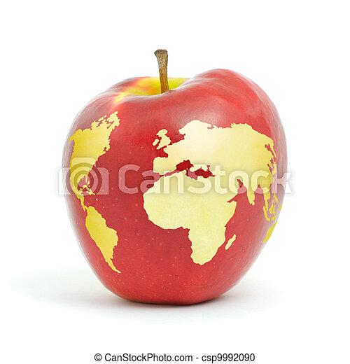 World apple red apple world map on white background world apple csp9992090 gumiabroncs Images