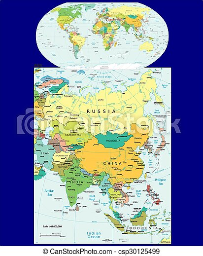 View Map Of The World.World Asia Political Map