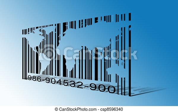World  Barcode - csp8596340