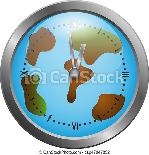 World clock map vector illustration world clock on the map hands world clock map csp47047852 gumiabroncs Images