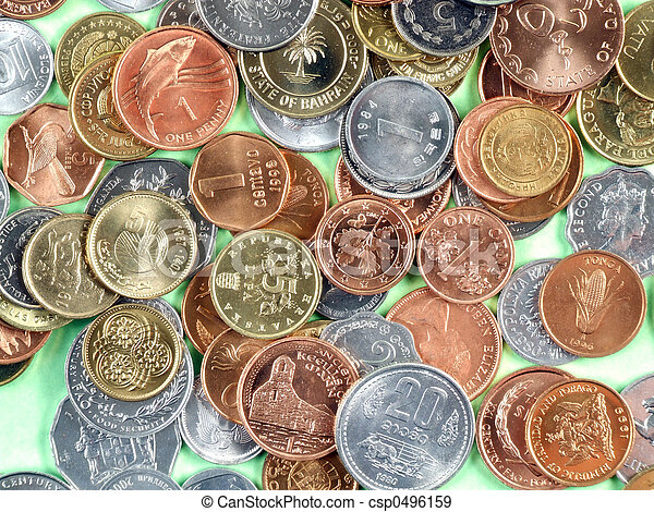 World currency coins - csp0496159