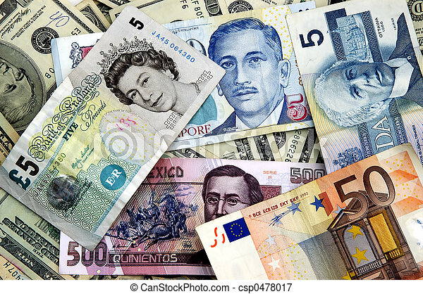 World currency currency notes from all over the world world currency csp0478017 publicscrutiny Images